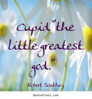 Create graphic picture quote about love - Cupid