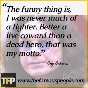 Ozzy Osbourne Funny Quotes