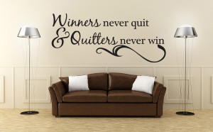 ... -Never-Quit-Vinyl-Wall-Quote-Decal-Sports-Inspirational-Saying-J244