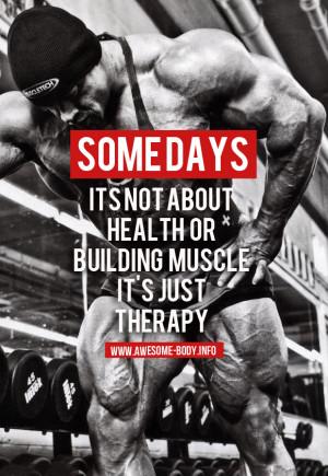 Gym Therapy | Bodybuilding Qoutes