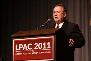 Steve Stockman speaking at LPAC 2011 in Reno, Nevada.