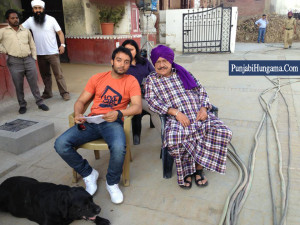 Gill And Bollywood Indian Actor Om Puri In Nabha Bagrian Punjab ...