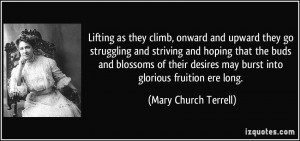 Lifting as they climb, onward and upward they go struggling and ...