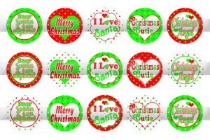 1298 I Love Santa, Christmas Sayings BottleCap Images