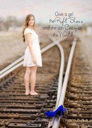 ... railroad track... Just had to add the Marilyn quote. :-). #