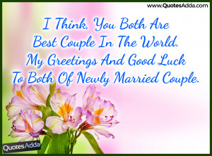 Couple Wishes and Quotes messages in English, Best Happy Married Life ...