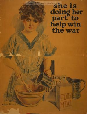 american ww1 propaganda posters rationing in ww1 women in ww1