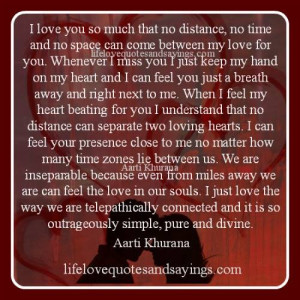 No Distance Can Separate Loving Hearts..