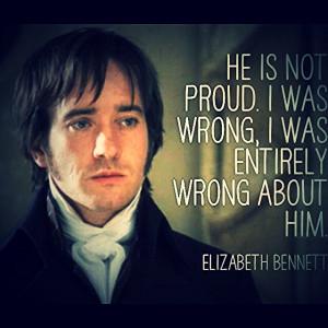 Elizabeth Bennett quite about Darcy