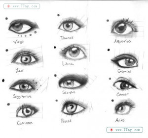 眼睛的素描绘画--眼睛的12种画法