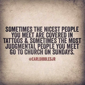 Don't be judgemental...
