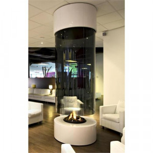 Contemporary Freestanding Fireplace from Bloch, Model: Custom Quote