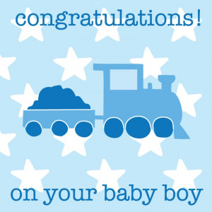 Congratulations On Your Baby Boy Greetings Card £1.99