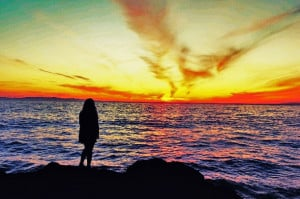 beach, cute, lonely girl in the world, quote, quotes, sad