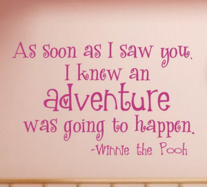 Winnie The Pooh Quotes Bedroom Wall Decal Stickers