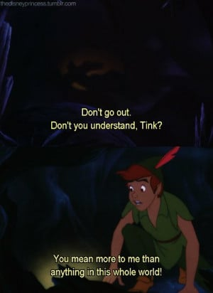 disney, love, movie, peter pan, quote, tinkerbell
