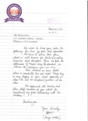 Parents Letter To Teacher Sample