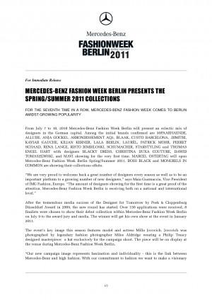 fashion press release format