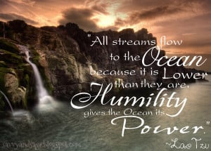 Humility: All Streams Flow to the Ocean
