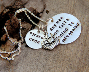 Pirate Jewelry Mermaid Necklace, Captain Necklace, Mermaid Charm ...