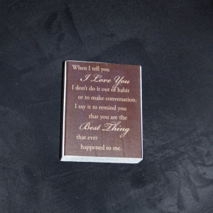 love you wood block love quote on wood by Littlegiftsfrmheaven, $12 ...