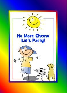 no more chemo party invitations | No more chemo cake! adorable for a ...