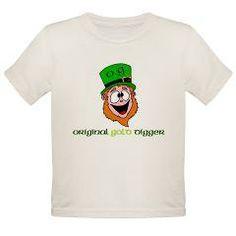 leprechaun organic toddler t-shirt [says: