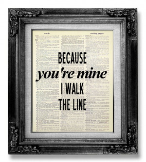 Johnny Cash Wall Art QUOTE POSTER Rustic Country by GoGoBookart, $10 ...