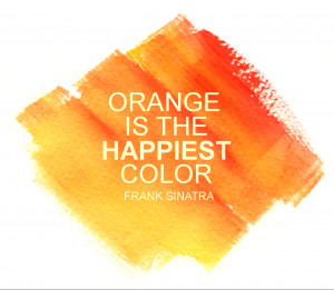 Quote about color orange