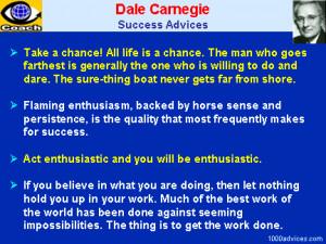 Dale Carnegie. Quotes on Success, Achiement, Passion