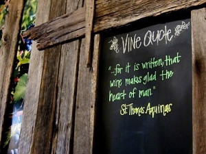 St Thomas Aquinas wine quote.