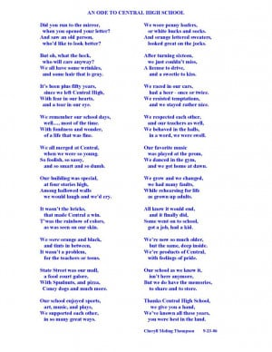 poem written for the 50th reunion of the Madison Central High School ...