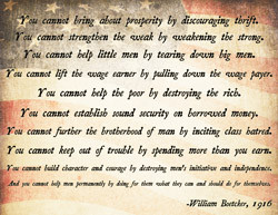 Ten Cannot S by Abraham Lincoln