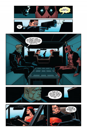 Deadpool's quotes are very funny.. Charles Soule is doing great!
