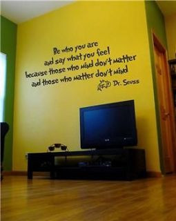 be who you are and say what you feel dr seuss quote Dr Seuss Quotes ...