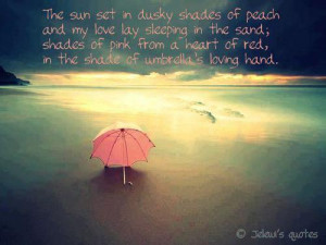 ... tags for this image include: umbrella, heart, love, ocean and pink