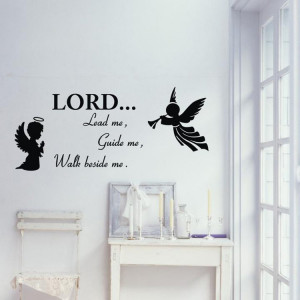Quality Vinyl Black Wall Sticker Christian Quotes Living Room Bedroom