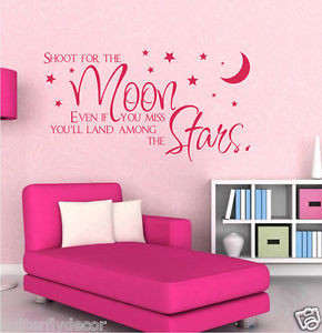 ... For-The-Moon-Wall-Quote-Sticker-Home-Nursery-Kid-Room-Removable-Vinyle