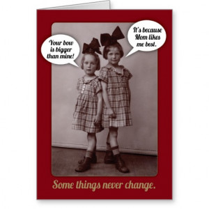 Funny Vintage 1920s Older Sister Birthday Card