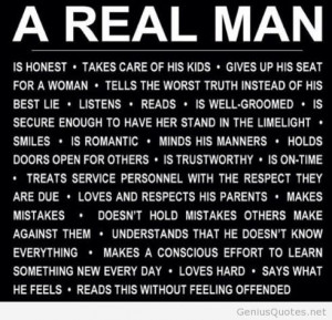 YOu are a real man?