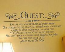 Décalque Bienvenue invités pour cha mbres d'hôtes ...