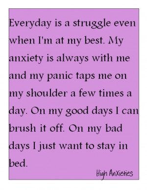 Anxiety & Panic Attacks are a invisible illness. Just as real as ...