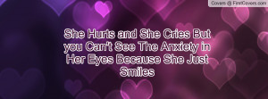 ... can't see the anxiety in her eyes because she just smiles , Pictures