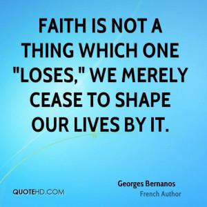 Georges Bernanos Faith Quotes