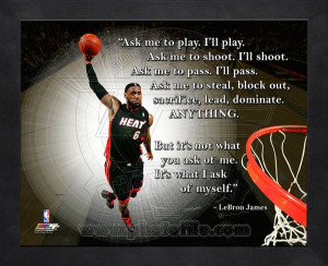 Framed LeBron James Miami Heat Pro Quotes