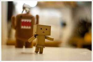 box, chase, danbo, funny, robot, toy