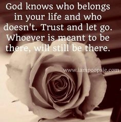 Trust and let go quote via www.IamPoopsie.com More