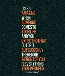 Crush Quotes - Its so amazing when someone comes