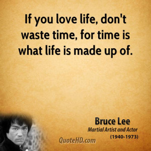 Bruce Lee Time Quotes