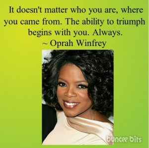 Oprah Winfrey quote art